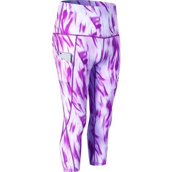 Printed Tights Sportswear Woman Gym Yoga Pants With Pocket Sport Seamless Leggings Fitness Compression Slim Running Clothes