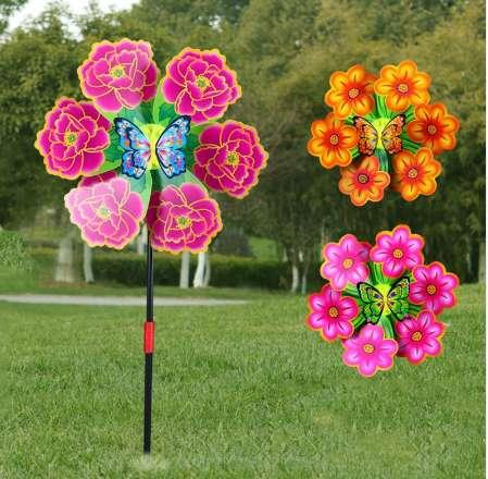 Flower Windmill Wind Spinner Pinwheels Home Garden Yard Decoration Kids Toys New JUN-5A