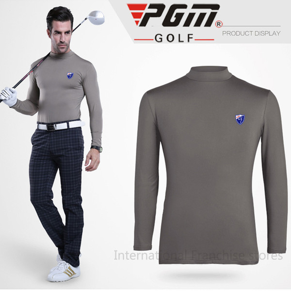PGM Authentic Golf Apparel Winter Warm Shirts Wool Velvet Male Thermal Men Golf Sports leisure Tshirts Quick Dry Clothing