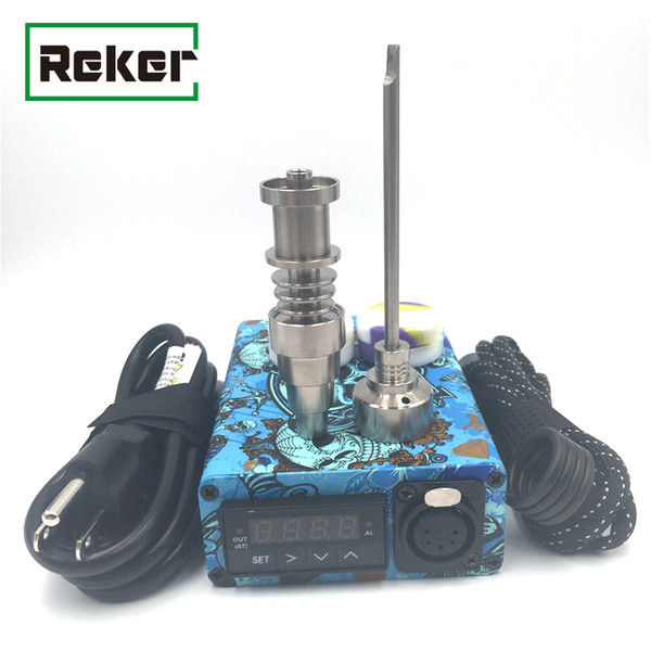 Enail kit Para Caneta Herbal Seco Digital PID Eletrônico Dab Titanium Prego Domeless Dnail E-Nail WAX Vaporizador Para Bacia De Fumar Com Zipper Caso