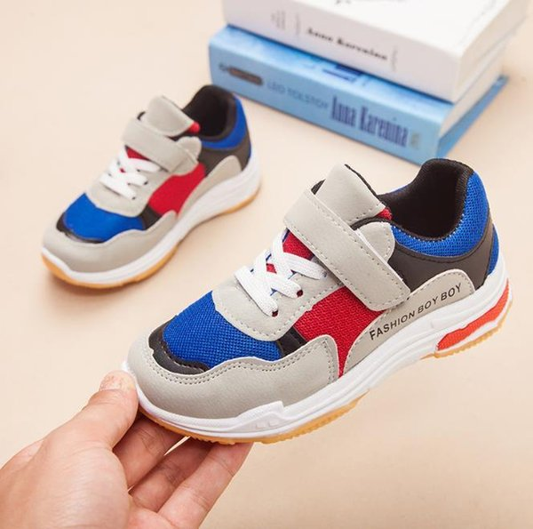 Baby sells best new style autumn boys girls student shoes breathable lightweight super cool tennis shoes 199-2