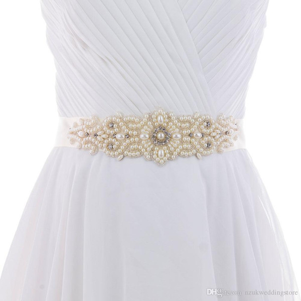 2018 HOT S26A Pears Bride Evening Party Gown Dresses Accessories Wedding Sashes Belt/Waistband Bridal Belts Sashes Fast Delivery