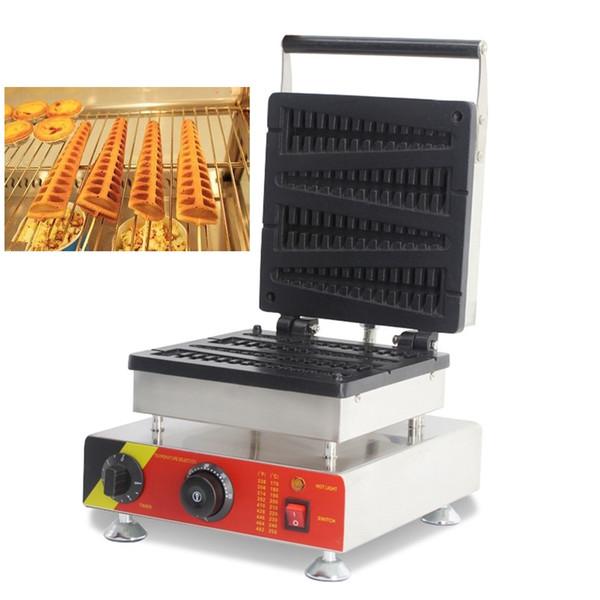 Electric 110V 220V 4pcs Mini Commercial Lollipop Shaped Lolly Waffle Machine Belgian Waffles Sticks Makers Iron Making Baker