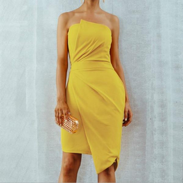 2019 Wholesale Fashion Strapless Summer Dress