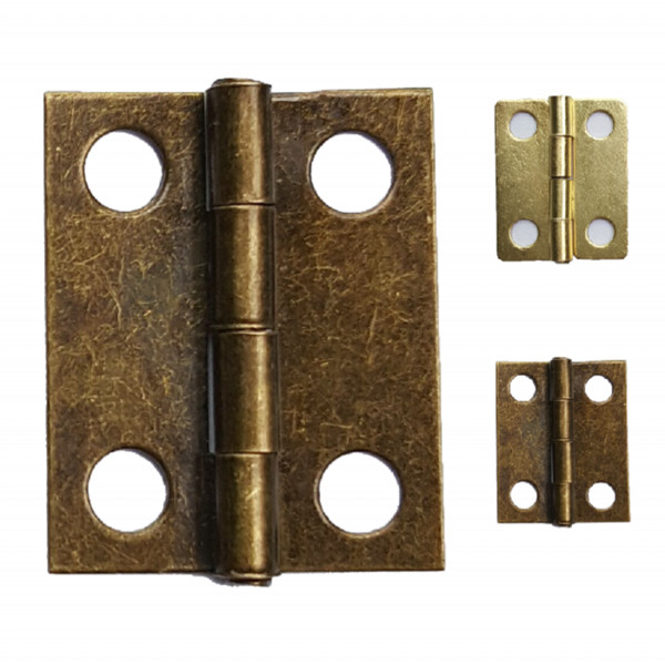 Wholesale- 1000pcs/lot 18 *15mm Bronze Brass Hinges Wholesale Wooden Box Hinge Small Hinges for Box Hardware Decoration