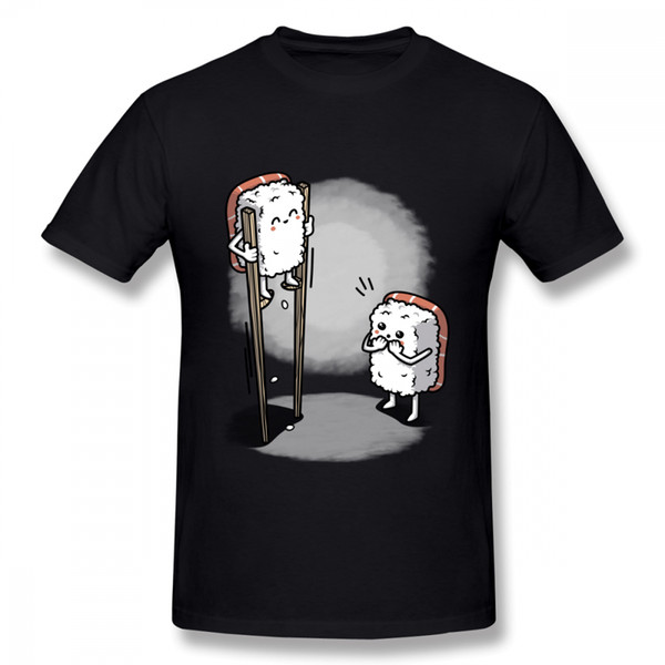 Man's 3d Print Sushi In Chopsticks Tee Shirt Unisex 100% Cotton Streetwear For Man T Shirt