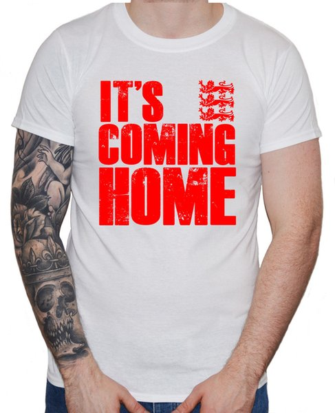 """World Cup 2018 Men's T-Shirt """"It's Coming Home"""" England Football Team Supporters"""