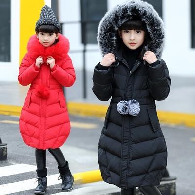 Nouvelle livraison 2018 nouveau manteau de coton d'hiver de grande fille de garçon