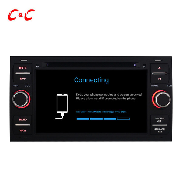 Android 6.0 Car DVD Player for Ford Old Fiesta Mondeo S-max Focus Galaxy GPS Navi Radio BT WiFi Support OBD DAB+ DVR