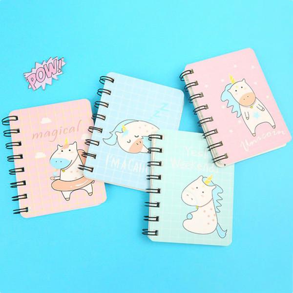 Unicorn Fly Horse Hard Cover Coil Book Portable Pocket Notebook Diary Notepad Escolar Papelaria School Supplies