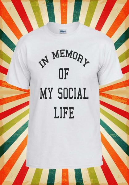 Ma mémoire de la vie sociale drôle cool hommes femmes gilet débardeur unisexe t-shirt 1132
