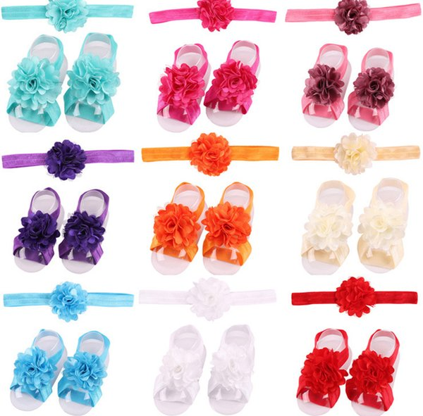 Paper ribbon flowers coupons promo codes deals 2018 get cheap hot colorful foot flower barefoot sandals headband set for baby infants girls toddler headwear childrens hair accessories lc808 mightylinksfo