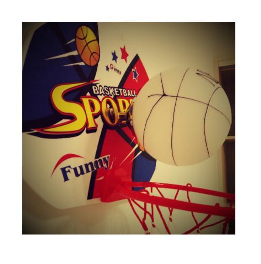 Acheter Regron Noverty Drole Pvc Verre Basketball Appareils Muraux Loft Gamesroom Kindergarden Ados Chambre Enfants Chambre Applique Murale Applique