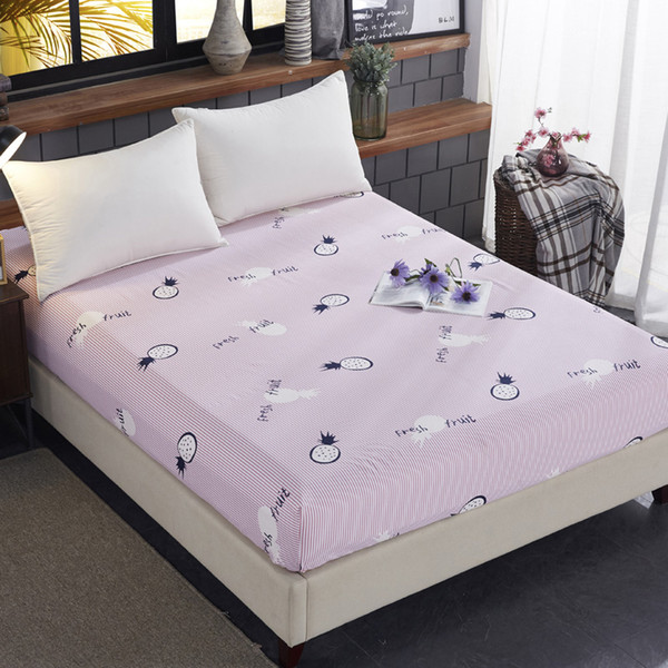 Printing Cotton Mattress Protector Covers Bed Fitted Anti-Dirty Wetting And Bed Bug Fixed Mattress Sheet Case For Bedroom #sw