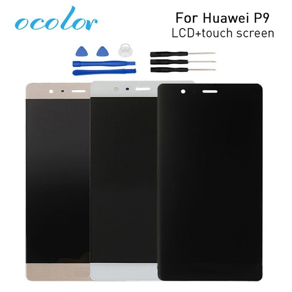 touch ocolor For Huawei P9 LCD Display+Touch Screen Digitizer Assembly Replacement For Huawei P9 Cell Phone+Tools High Quality