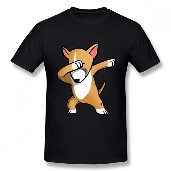 Cuello redondo para hombre Divertido Fawn English Bull Terrier Dabbing T Shirt Cuello redondo para niño Casual para hombre Tamaño grande Homme T