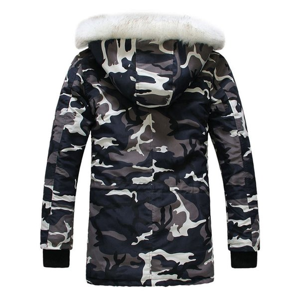 Standard New Camouflage Down Parkas Jackets Men 'S Parka Hooded Coat Male Fur Collar Parkas Winter Jacket Men Military Down Overcoat