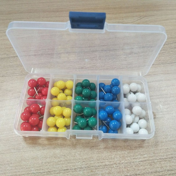 best selling 3 8 inch Candy colors ball Push Pin Thumb Tack 100 pcs set 5 color mixed