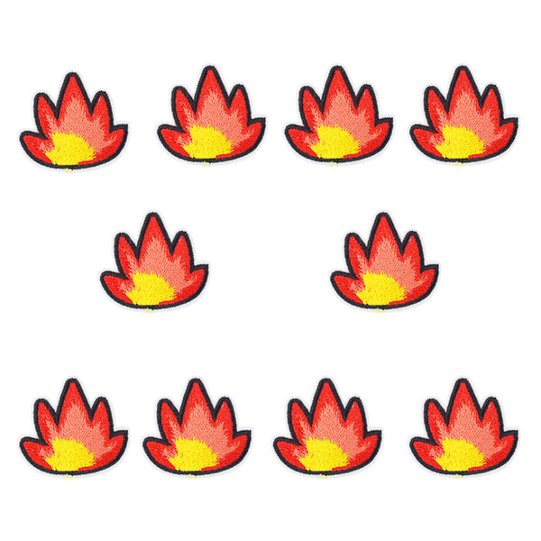 10PCS flame embroidery patches for clothing iron patch for cloth applique sewing accessories stickers badge on clothes iron on patch