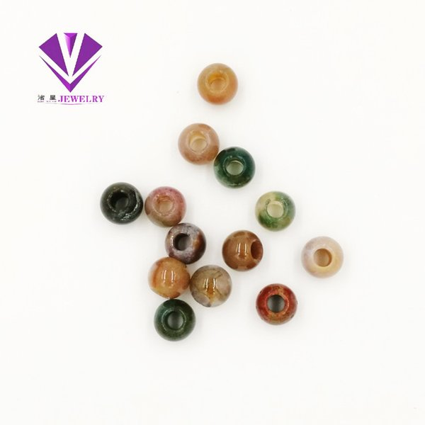 ZHU STAR JEWELRY Gemstone Jewelry Natural Stone Large Hole Count Beas 12mm Necklace Pendants Factory Direct Wholesale free shipping