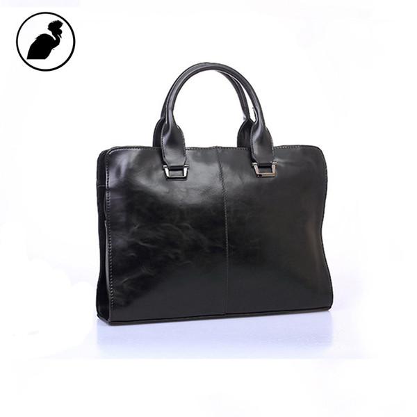 ETONWEAG Famous Brands Italian Leather Briefcases Men Messenger Bags Black Luxury Business Briefcase Vintage Lawyer Laptop Bag