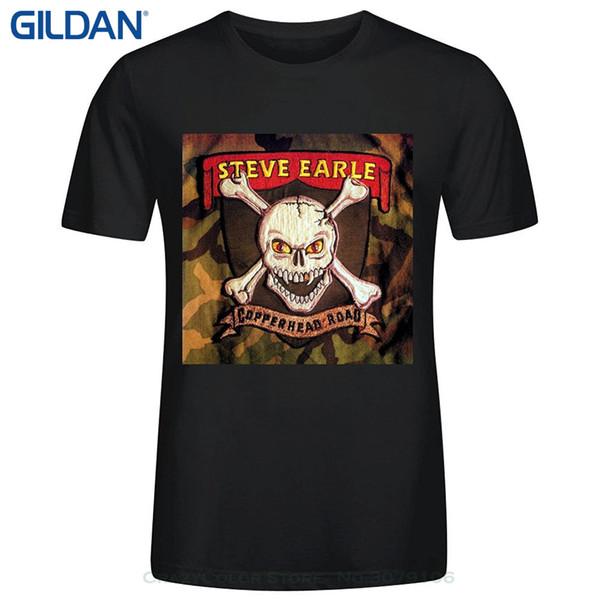 Desconto por atacado Moda camiseta Homens Roupas Steve Earle Copperhead Estrada dos homens Em Torno Do Pescoço de Algodão Camiseta