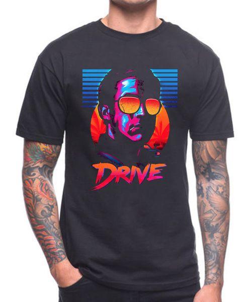 DRIVE T SHIRT CULT FILME Men'S Lastest 2018 Moda de Manga Curta Impresso T-Shirt Engraçado Camisetas Hipster O-pescoço Legal verão Venda Quente