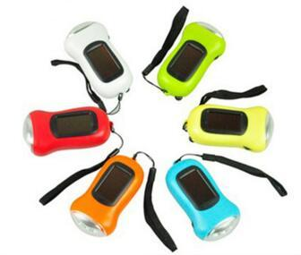 Mini Portable Key Flashlight Strong light Hand Crank Dynamo LED Solar Powered Camping Torch Pure Color 8 3wl bb