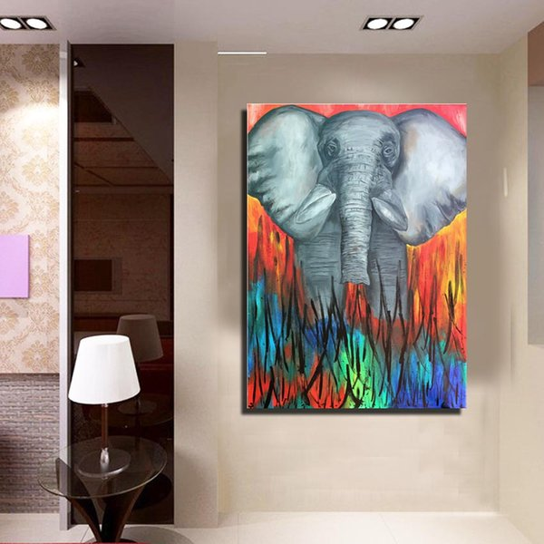 2019 Wall Art Crafts Abstract Elephant Animal Oil Painting Home Living Wall Deco Kids Room Modern Oil Painting For Sale From Dafenoilpaintingyeah