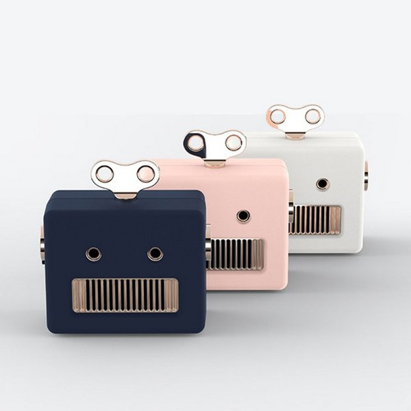 1PCS New Mini Portable Wireless Bluetooth Speaker Cute Robot Music Play Built-in Mic TF Radio MP3 Hands-free Call Outdoor Loudspeakers