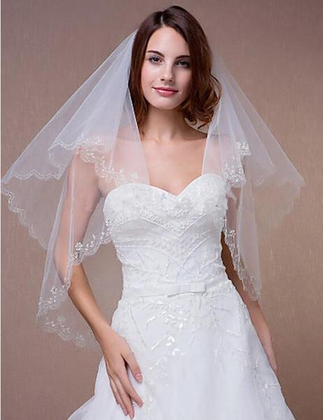 Strass intemporels mariage moderne cathédrale voiles voile de mariée tombe robe de mariée voile accessoires de mariée voile garniture