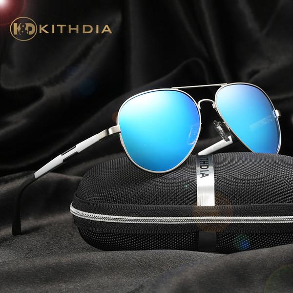 KITHDIA Aluminiumrahmen Polarisierte Sonnenbrille Mens Womens Sonnenbrille Marke Designer Vintage Sonnenbrille Oculos de sol masculino