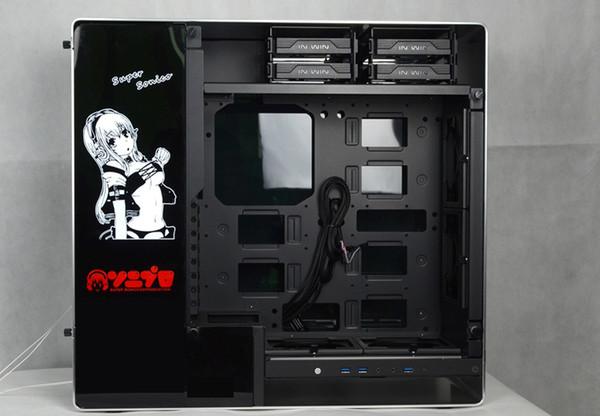 Cubierta de placa de placa de placa posterior de la caja a medida Tamaño 440 * 140 mm Uso de 4 pines para la pantalla de la caja de la computadora Enfriamiento por líquido B
