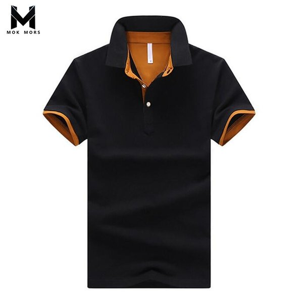 2018 Mens Summer Fashion  Business Casual High Quality Lapel Cotton Breathable Work Clothing Men  Shirt Short Sleeve