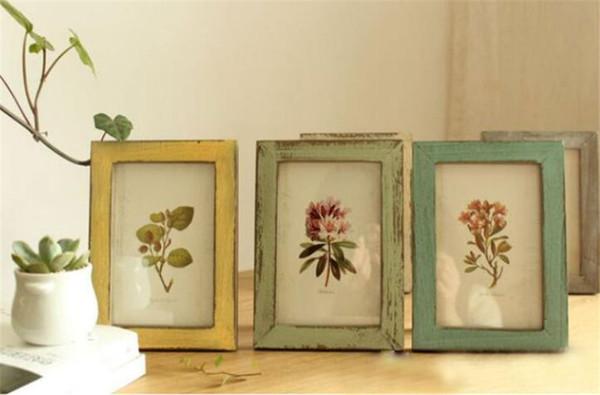 5 Farben Qualität Vintage Bilderrahmen Wohnkultur Retro Holz Hochzeit Paar Empfehlung Bilder Rahmen Geschenk Ornament
