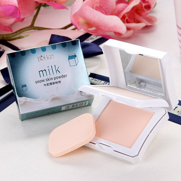BoHan milk powder wet dry double layer powder cake concealer moisturizing oil control makeup set accessories