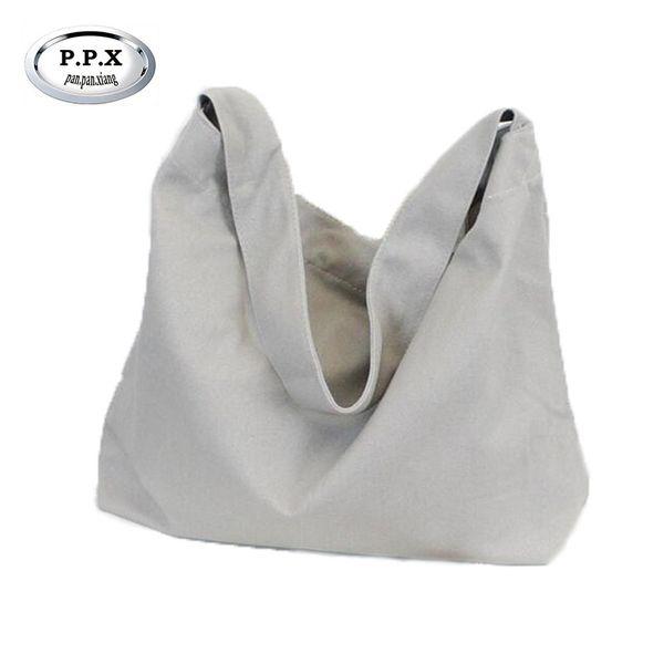P.P.X Verschleißfeste Canvas Shopper Bag Casual Damen Umhängetasche Japan Und Korean Style Handtasche Joker Messenger Bags M553