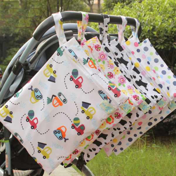 Travel Baby Diaper Bags For Stroller Baby Lovely Waterproof Storage Nappy Dry Wet Cloth Bag Organizer Diaper Changing Bag