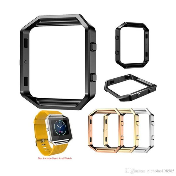 Stainless Steel Frame Holder Case Cover Shell Metal Frame Bezel For Fitbit Blaze Activity Tracker Smart Watch Band