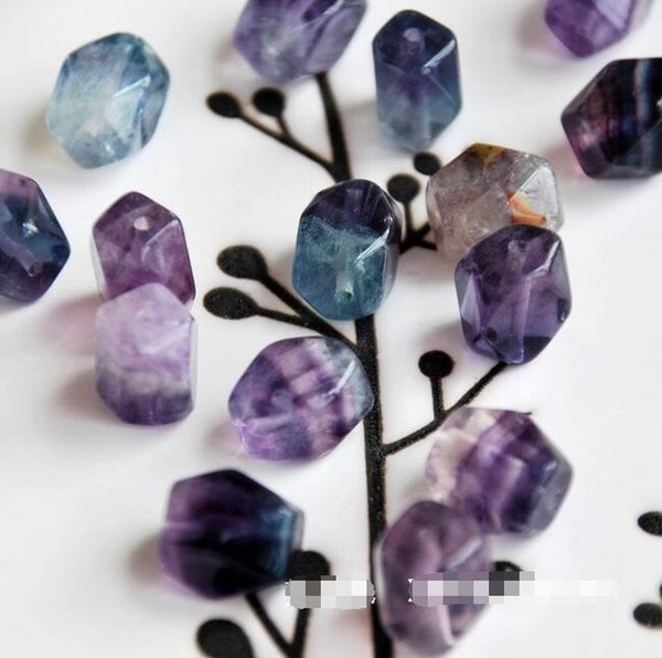 natural colorful fluorite loose beads loose bead bracelet necklace earrings making jewelry craft findings handmade material