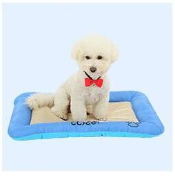 New hot ice silk pet mat dog bed pads give you baby cool and comfortable summer pink and blue color sale