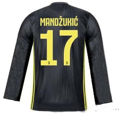purchase cheap 18e2b c2752 2019 Long 18 19 Ronaldo Juventus Soccer Jersey Away Gray 2018 MANDZUKIC  MATUIDI DYBALA Bonucci D.COSTA Home Third Champions League Football Shirt  From ...