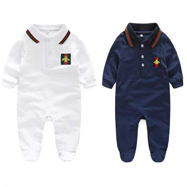 Babyspielanzug mit langen Ärmeln 100% Baumwolle Komfortable Baby Pyjamas Cartoon gedruckt Neugeborenes Baby Mädchen Kleidung