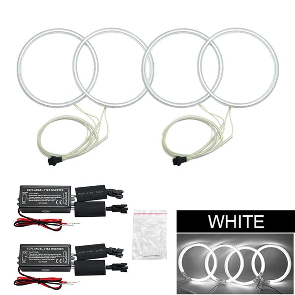 LEEWA Car CCFL Angel Eyes Light Halo Rings Kits For Volvo S40 Car Styling Headlight DRL #4848