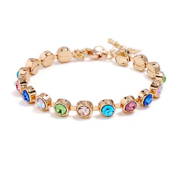 2018 New Rhinestone Crystal Bracelets For Women Fashion Silver Bracelets & Bangles Hand Simple Classic Bridal Wedding Jewelry