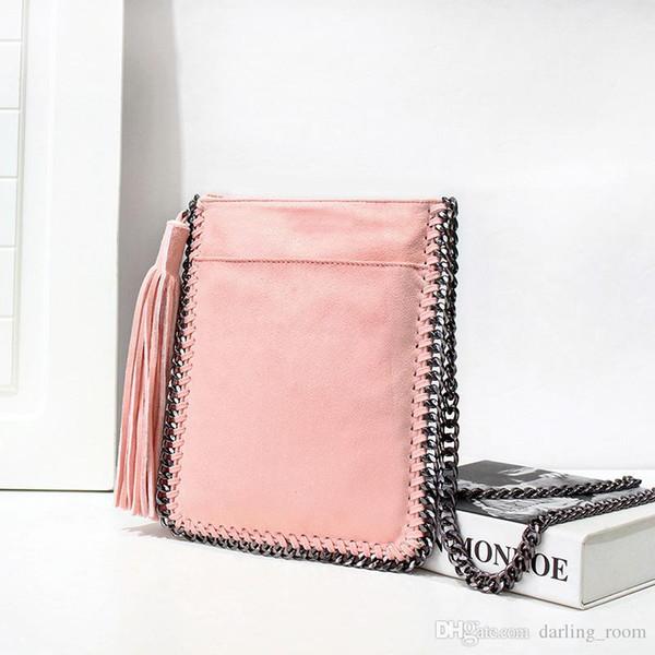 74e478d184 Top Brand Long Tassel Crossbody Bag For Women Messenger Bag Braided chain  Shoulder Bag small Ladies Phone Bags Girl Handbags Burgundy