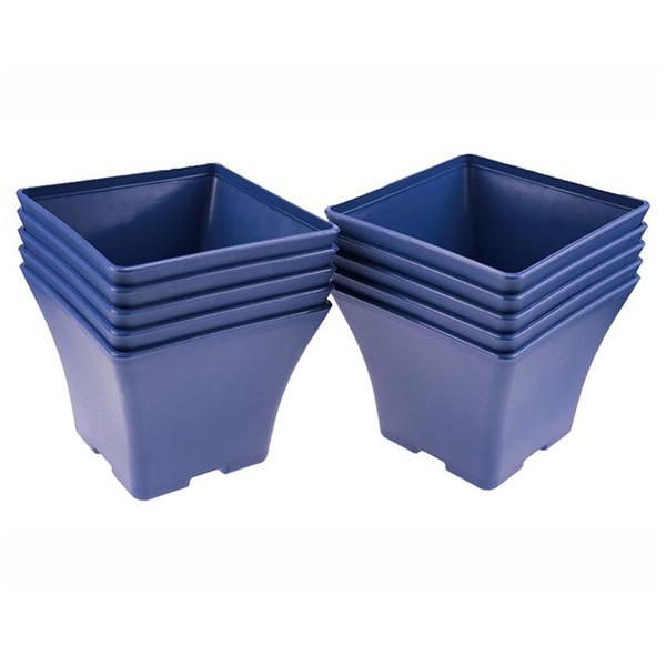 Elegant 12.5*15.2cm Spanish Blue Basin Plastic Flower Pot Balcony Flower Bonsai Planter Nursery Pots Maceta Cuadrada