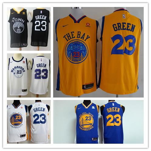 more photos 5a8a6 c528a 2018 2019 New Mens 23 Draymond Green Golden State Warriors Basketball  Jerseys Stitched Mesh Dense AU Warrior Draymond Green Basketball Jerseys  From ...