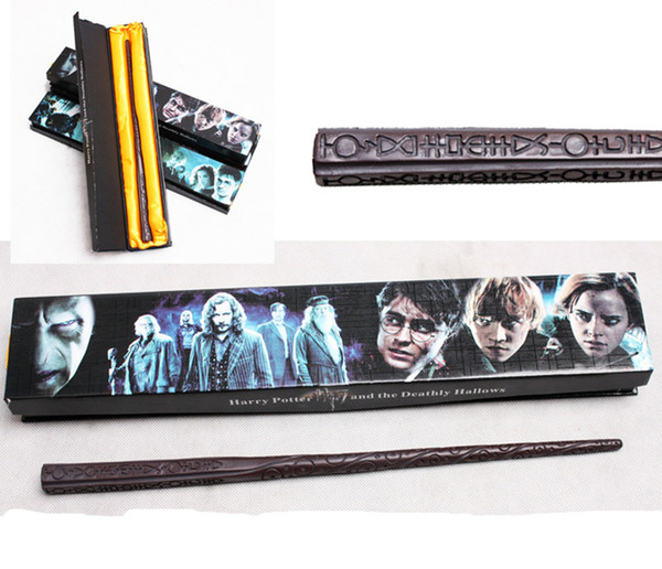 1pcs Sale New Upgrade Resin Harry Potter Magical Wand 18 Styles Hogwarts Harry Potter Series Magic Wand with Gift Box Creative Cosplay Toy