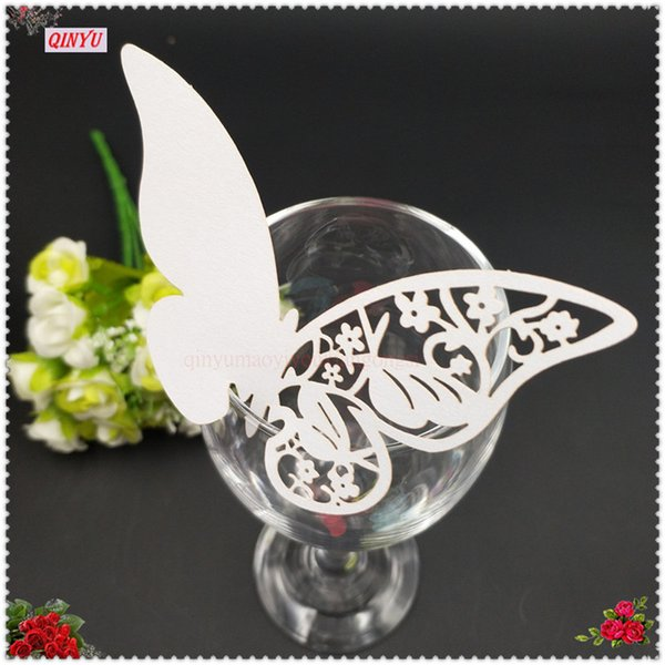 100Pcs Butterfly Wine Glass Name Place Card Wedding Event Party Bar Decoration Birthday Supplies 8ZSH859